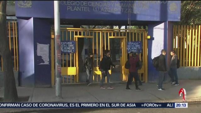 Foto: Unam Medidas Muerte Estudiante Cch Azcapotzalco 24 Enero 2020