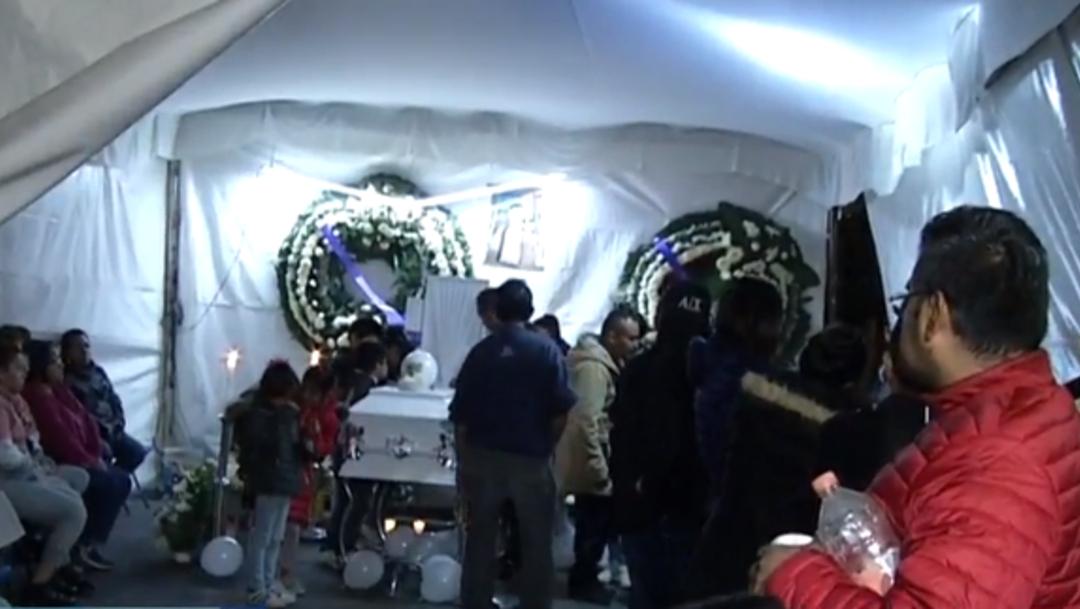 FOTO: Velan a niño que murió atropellado en inmediaciones del AICM, el 13 de enero de 2020