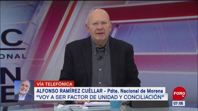 video entrevista completa con alfonso ramirez cuellar presidente de morena