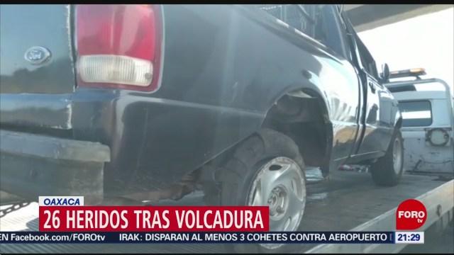 FOTO: 2 enero 2020, volcadura en la carretera la ventosa deja 26 lesionados