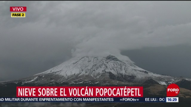 FOTO: volcan popocatepetl luce cubierto de nieve