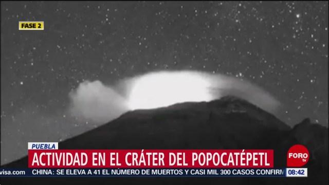 FOTO: 26 enero 2020, volcan popocatepetl registra 106 exhalaciones en 24 horas