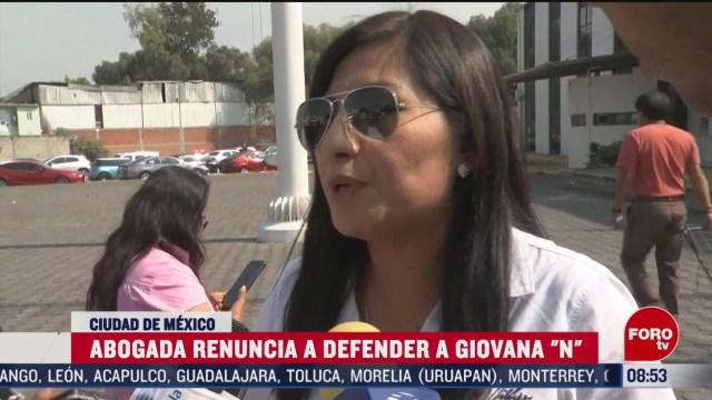 FOTO: 22 Febrero 2020, abogada renuncia a defender a giovana n presunta asesina de nina fatima