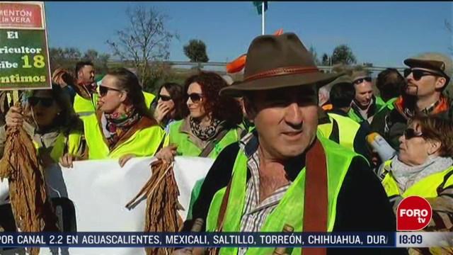 FOTO: agricultores encabezan manifestaciones en espana