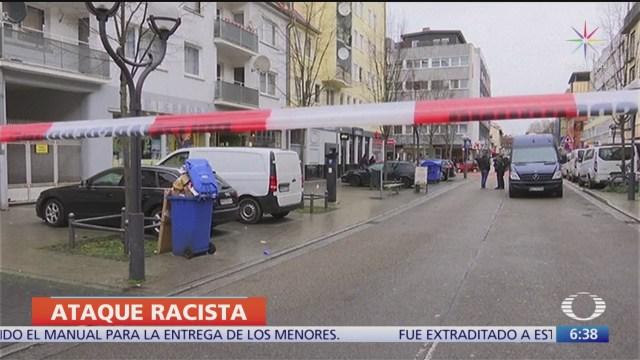 alemania califico como racista y ultraderechista el doble tiroteo contra bares