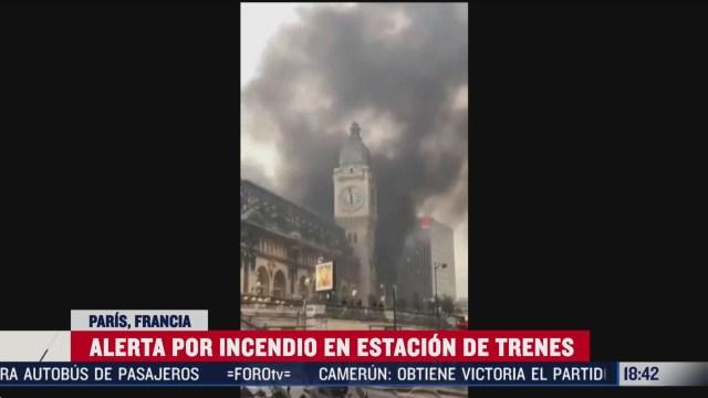 FOTO: alerta en paris por incendio en estacion de trenes