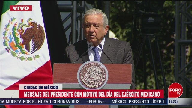 amlo agradece y reconoce labor del ejercito mexicano en su dia