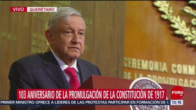 amlo conmemora la promulgacion de la constitucion de
