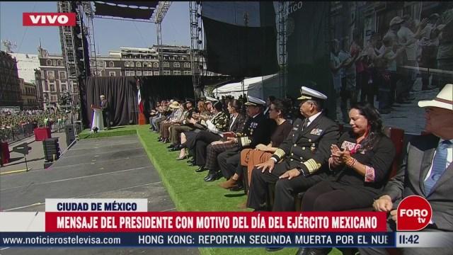 amlo encabeza el dia nacional del ejercito mexicano