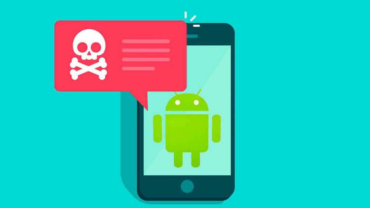 Una imagen de android con virus
