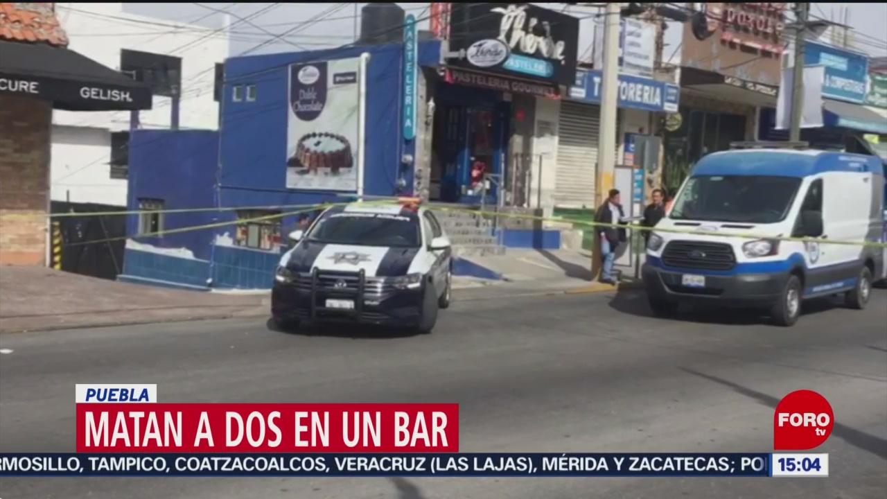 FOTO: 2 Febrero 2020, asesinan a dos personas en bar de puebla