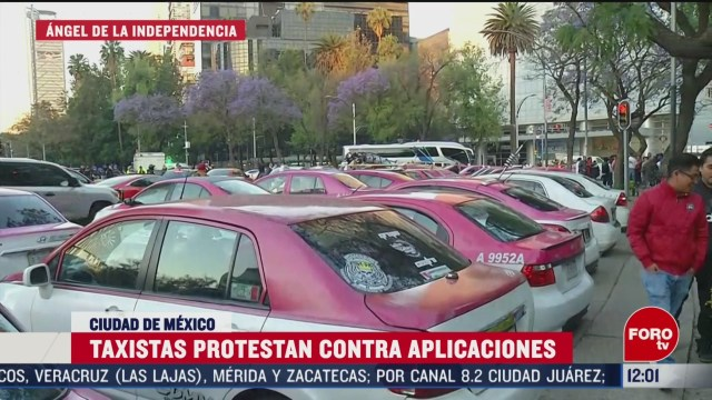 asi fueron las movilizaciones de taxistas en la cdmx