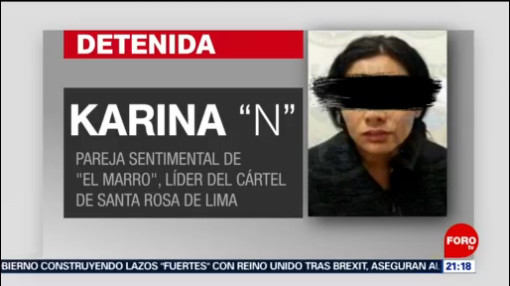 FOTO: 1 Febrero 2020, autoridades aseguran que detencion de novia de el marro fue legal