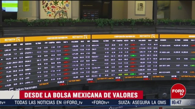 FOTO: bolsa mexicana cae arrastrada por temor a coronavirus