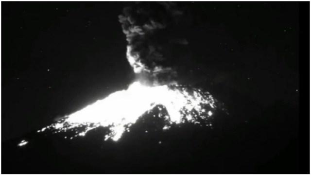 Foto: Se registra caída de ceniza por actividad de Popocatépetl, 23 de febrero de 2020 (Foro TV)