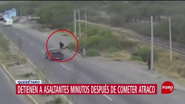 FOTO: camaras captan asalto y detienen a los rateros