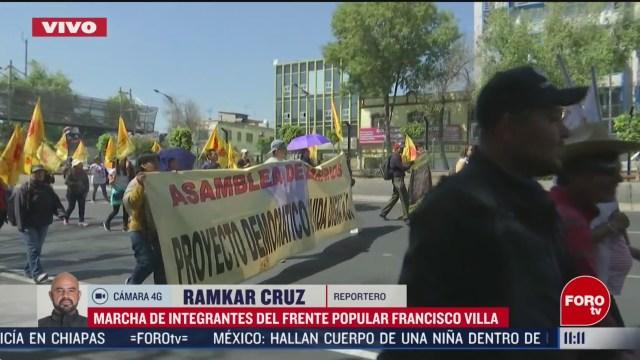 campesinos de oaxaca marchan en la ciudad de mexico