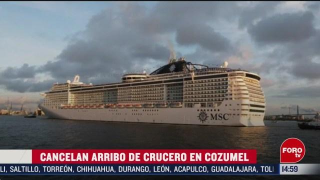 FOTO: cancelan arribo de crucero a cozumel por coronavirus