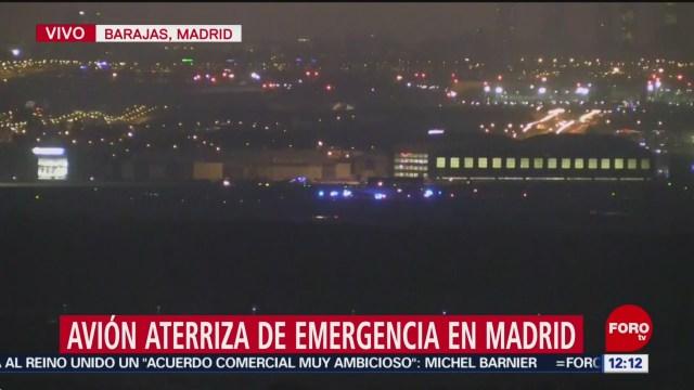 FOTO: 3 Febrero 2020, FOROtv capitan leonardo sanchez explica situacion de avion con emergencia en madrid