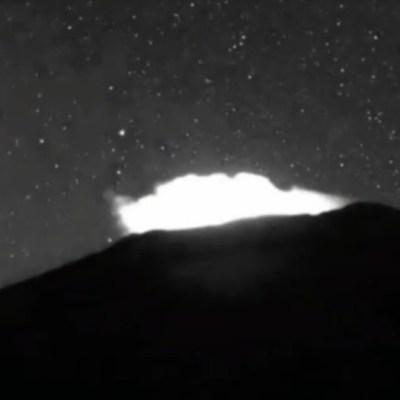 Captan caída de meteorito cera del Popocatépetl