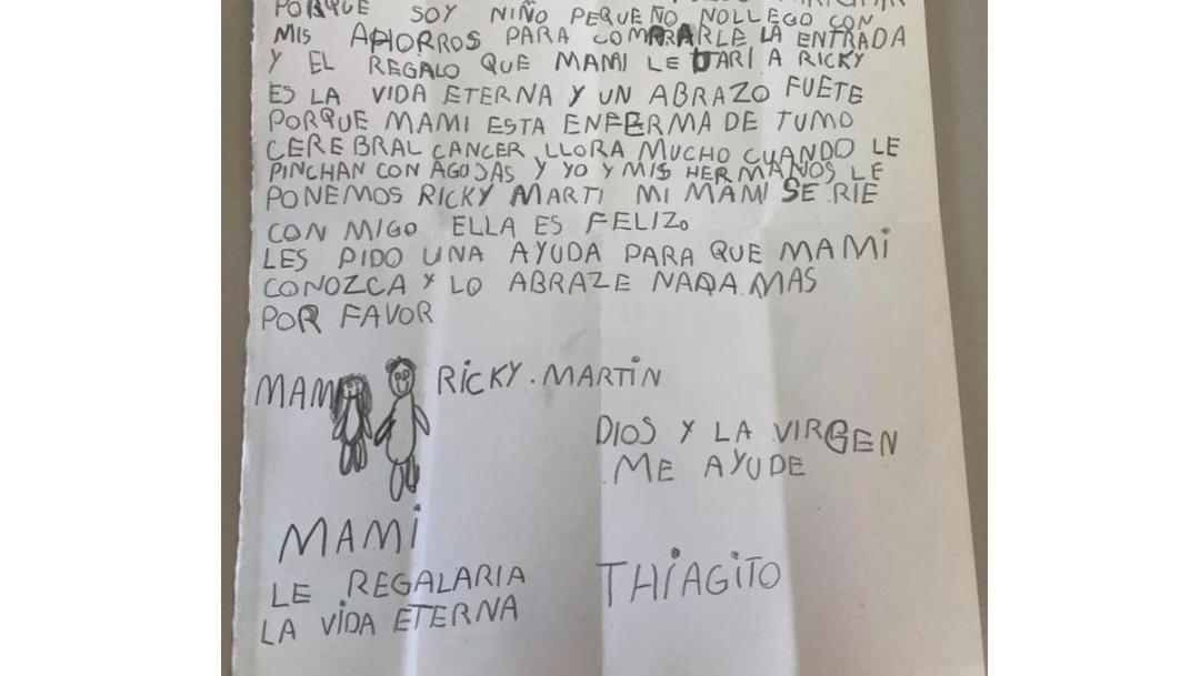 Niño gasta sus ahorros para que su mamá vea Ricky Martin