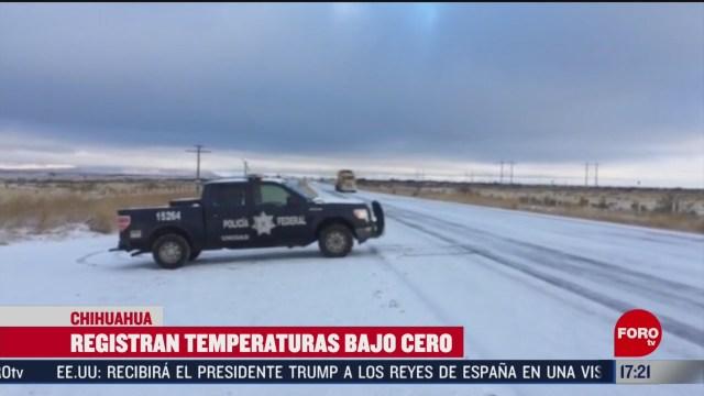 FOTO: chihuahua registra temperaturas bajo cero