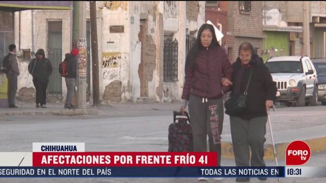 FOTO: chihuahua reporta temperaturas bajo cero