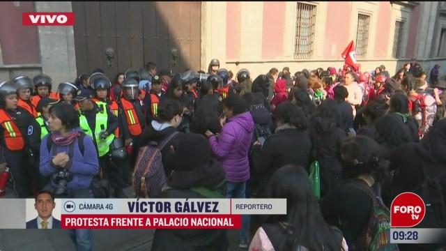 colectivos feministas esperan ser recibidas en palacio nacional