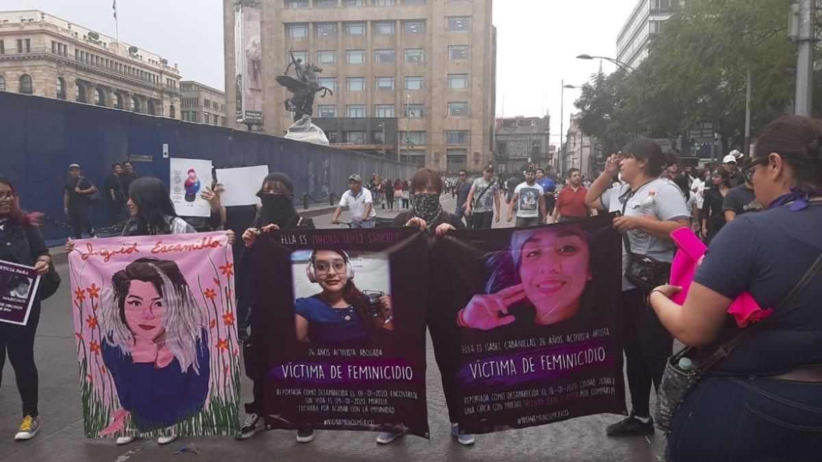 Colectivos feministas marchan en la CDMX. (Foto: Noticieros Televisa/Heatzi Valdez)