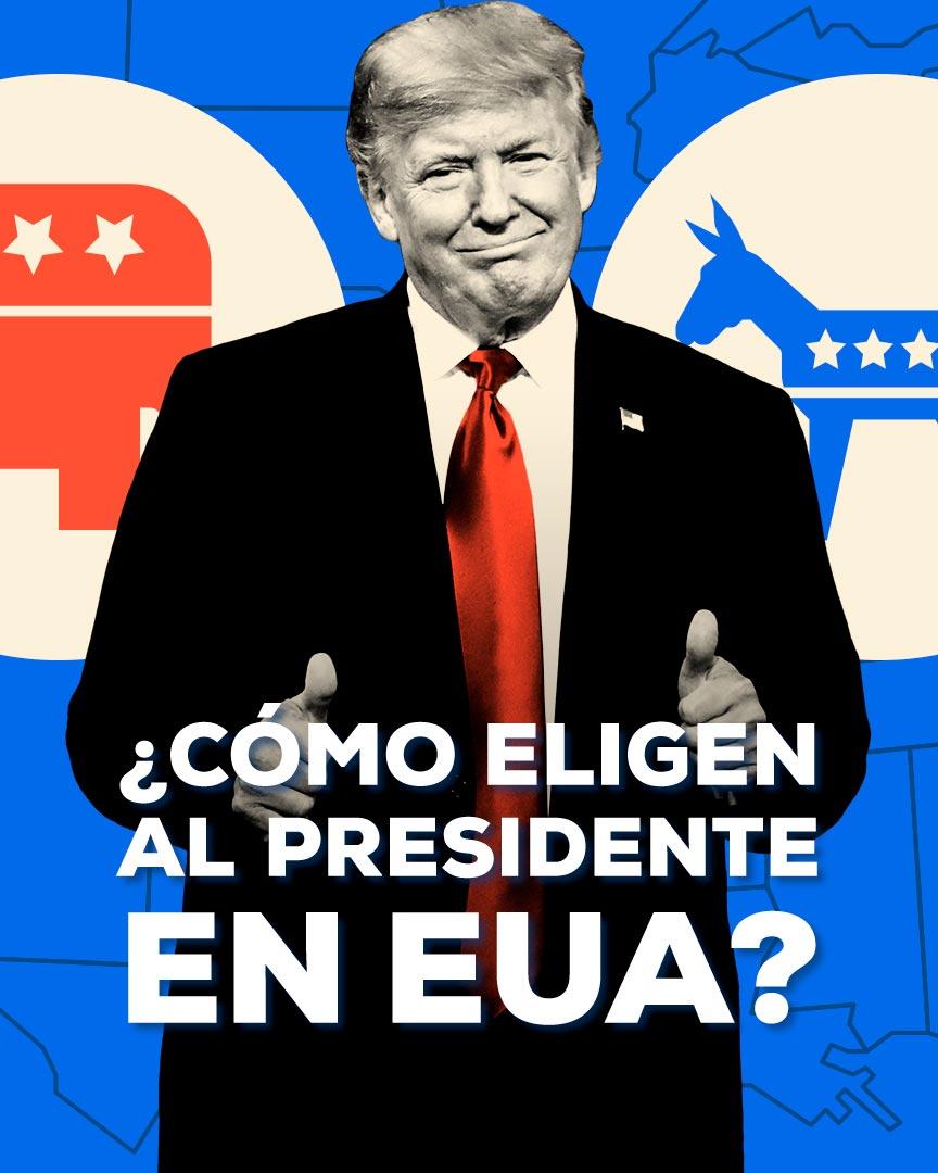 Cómo Eligen Presidente EUA Estados Unidos