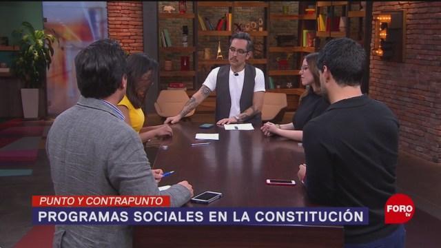 Foto: Constitucionalizar Programas Sociales Gobieno Amlo 6 febrero 2020