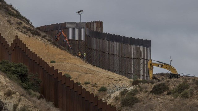 Foto: El gobierno estadounidense continua la construcción de un segundo muro fronterizo de 9 metros de altura, 9 febrero 2020