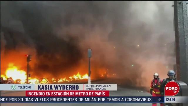 controlan incendio en estacion de trenes gare de lyon de paris francia