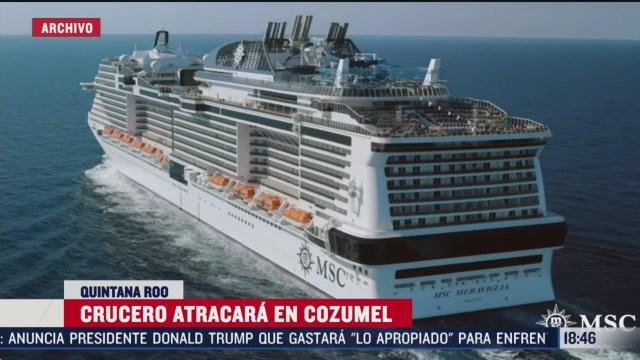 FOTO: crucero si atracara en cozumel tras descartar caso de coronavirus