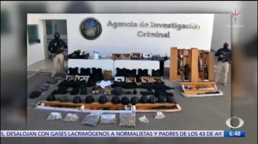 decomisan armas y drogas detienen a integrantes del cartel de santa rosa