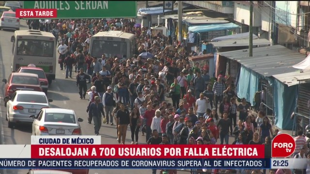 FOTO: 22 Febrero 2020, desalojan a mas de 700 usuarios de la linea 2 del metro