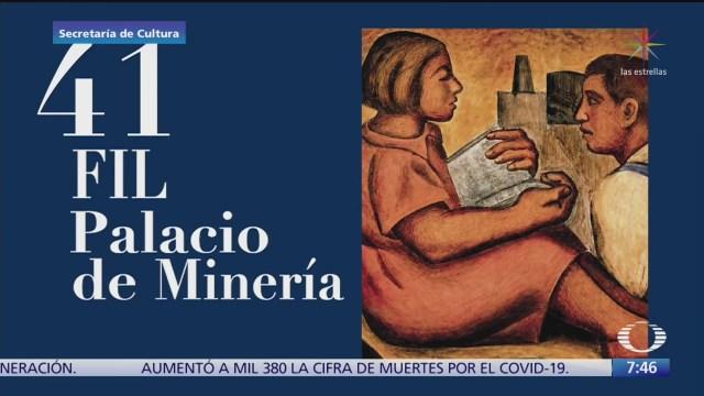 despierta con cultura feria del libro de palacio de mineria