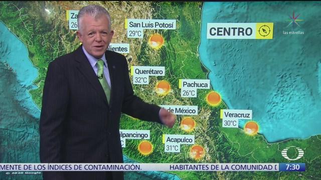 despierta con tiempo calor con bajo potencial de lluvias en mexico