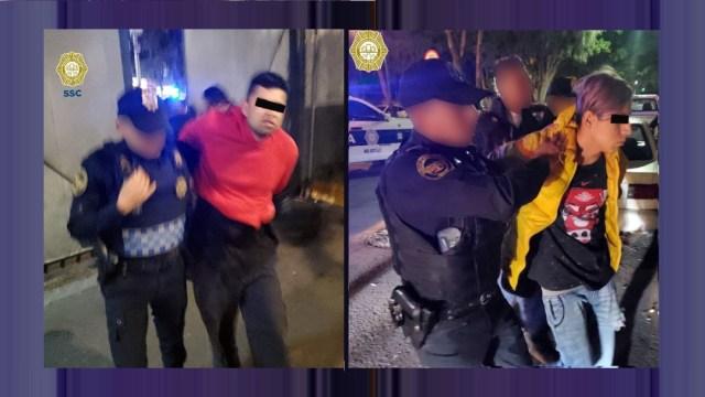 Foto: Detienen a dos hombres con armas y droga en calles del Centro Histórico, 9 febrero 2020