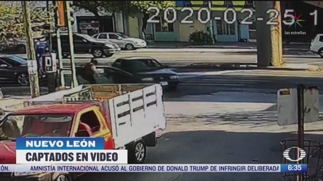 detienen a ladrones tras persecucion policial en monterrey