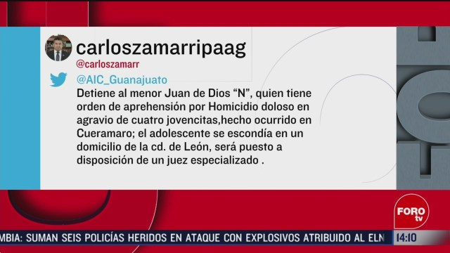 FOTO: 15 Febrero 2020, detienen a responsable de atropellar cuatro mujeres en guanajuato