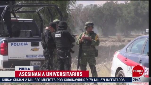 Foto: Asesinato Estudiantes Puebla Detienen Tres Personas 24 Febrero 2020