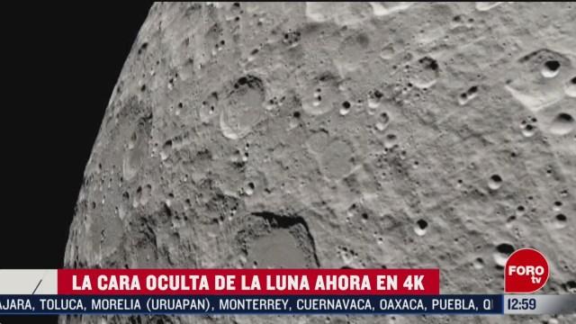 difunden imagenes de la cara oculta de la luna en 4k