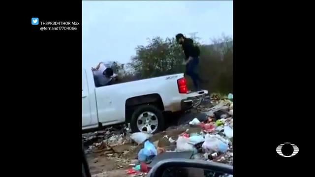 FOTO: 3 Febrero 2020, difunden video de hombres tirando un cuerpo en un basurero en culiacan