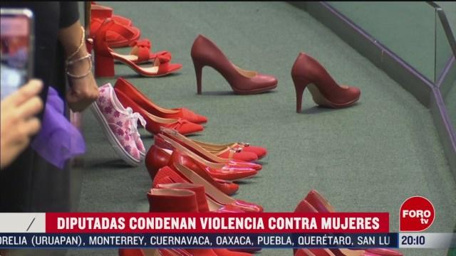 Foto: Diputadas Condenan Violencia Contra Mujeres Tribuna 18 Febrero 2020