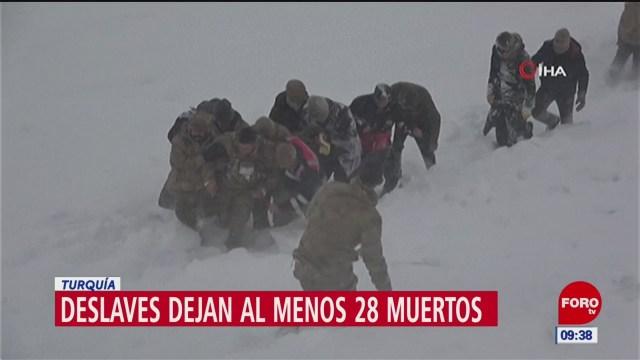 dos avalanchas registradas en turquia dejan mas de 20 muertos