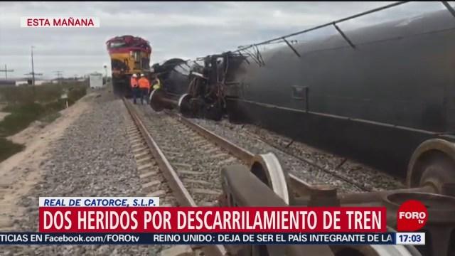 FOTO: 1 Febrero 2020, dos heridos por descarrilamiento de tren en real de catorce