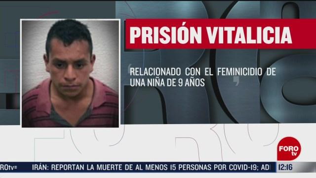 edomex emite sentencia de cadena perpetua por feminicidio