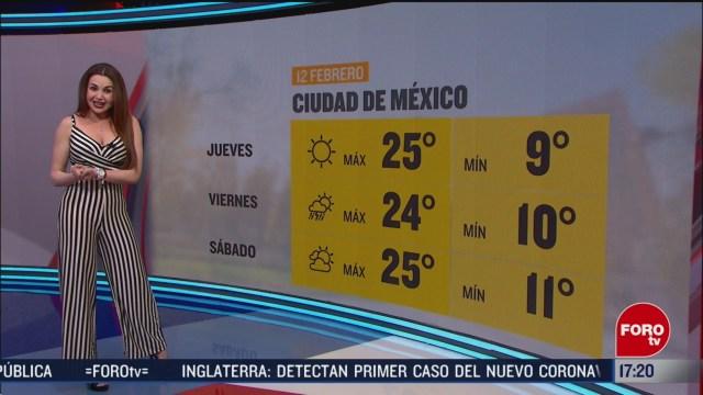 FOTO: el clima con mayte carranco del 12 de febrero de