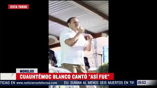Foto: Video Cuauhtémoc Blanco Canción Juan Gabriel 26 Febrero 2020